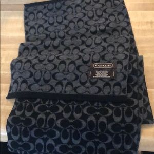 Coach black with Gray C Scarf